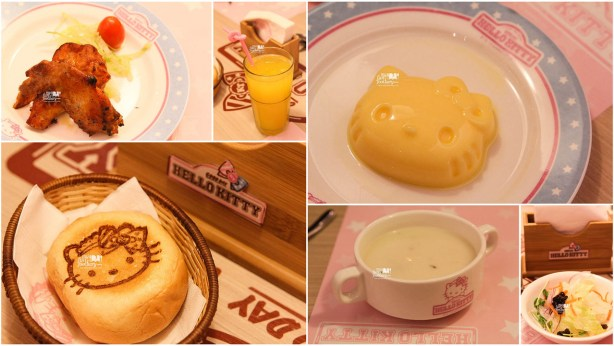 Compliment from Set Menu Main Course Hello Kitty Cafe