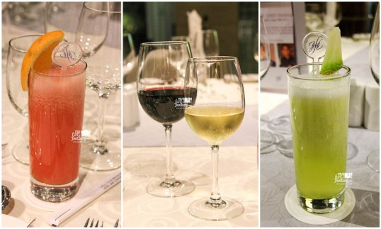 Various Juice and Wine