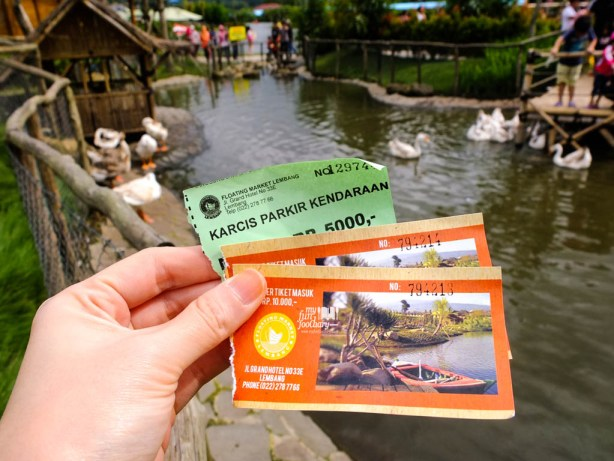 Tiket Masuk ke Floating Market Lembang