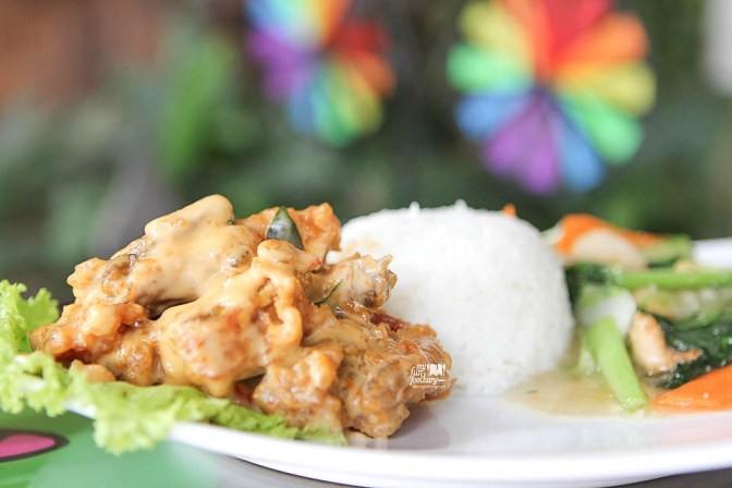 Salted Egg Prawn Rice Set