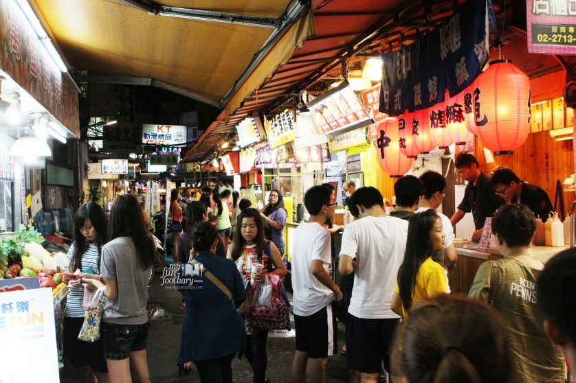 Crowd at Ximending Street Market