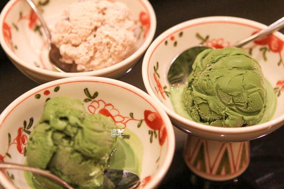 Matcha and Ogura Ice Cream