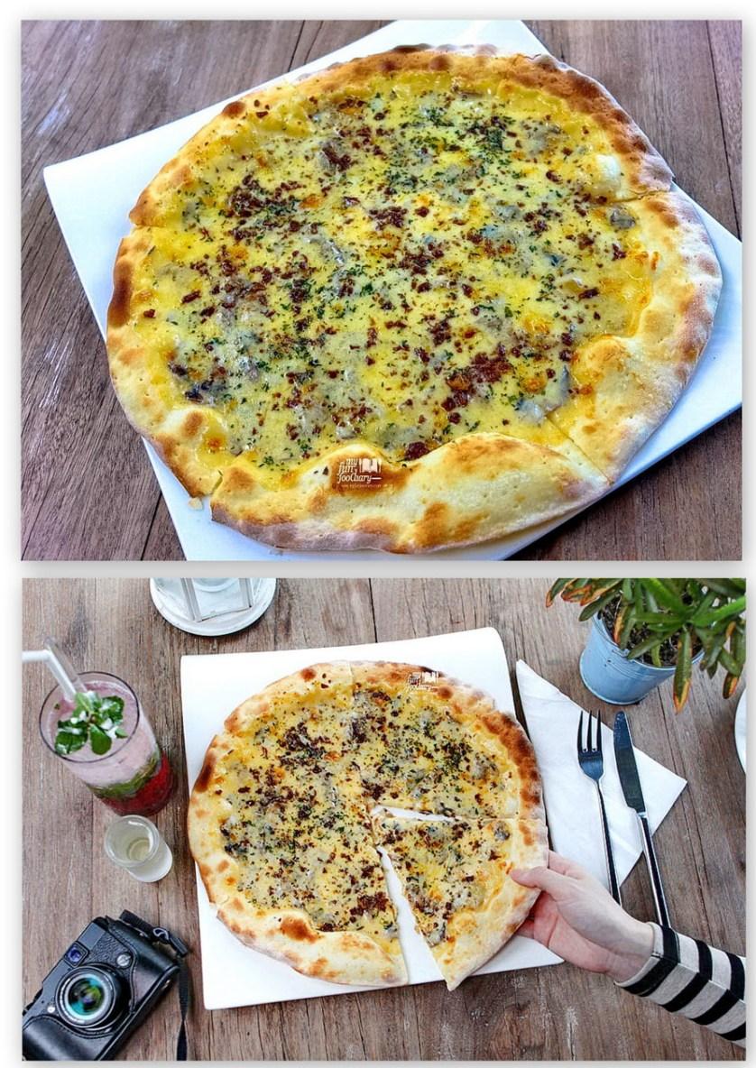 Creamy Mushroom Pizza at Resto FJ on 7 Kemang