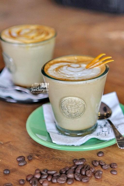 Orange Honey Latte Machiato at Two Cents Coffee - by Myfunfoodiary