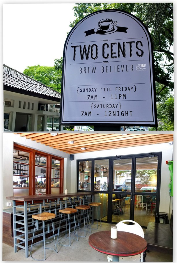 Plank nama Two Cents Coffee Bandung - by Myfunfoodiary