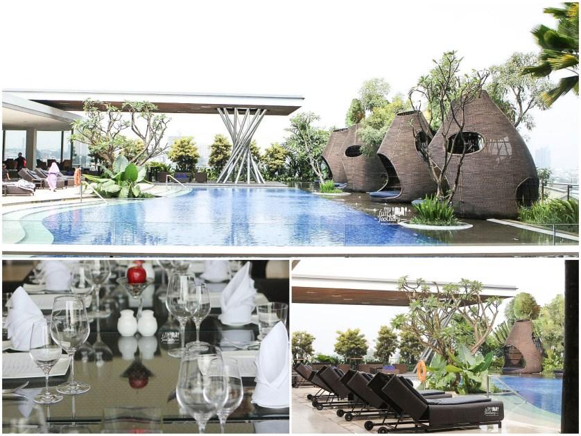 Beautiful Pool Side at Fresco Restaurant Hilton Bandung by Myfunfoodiary