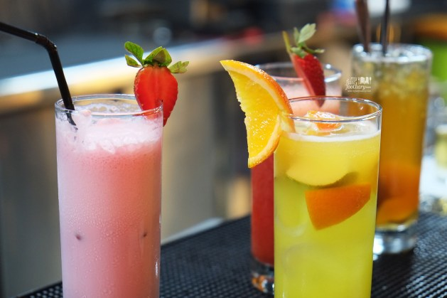 Peach Iced Tea-Delight Strawberry at Tapas Movida Citos by Myfunfoodiary