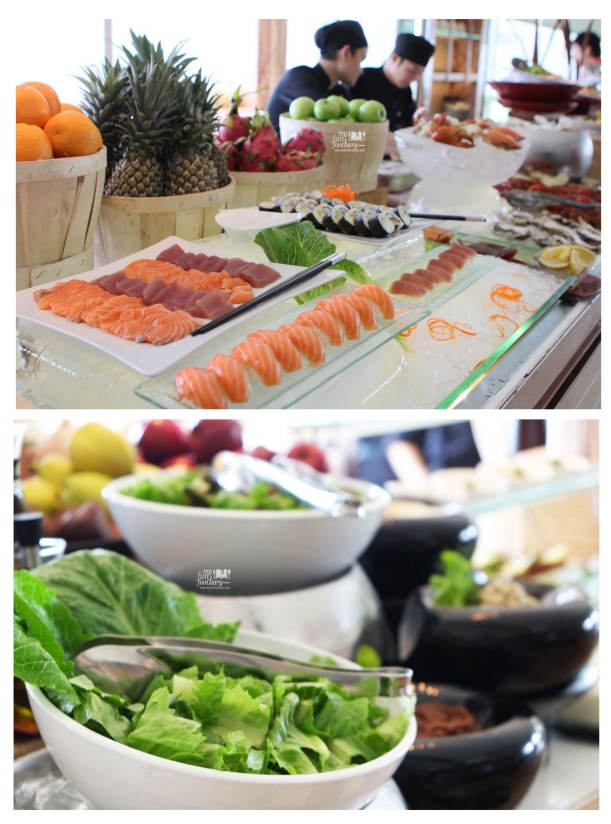 Sushi and Salad stall at Bengawan Keraton at The Plaza by Myfunfoodiary