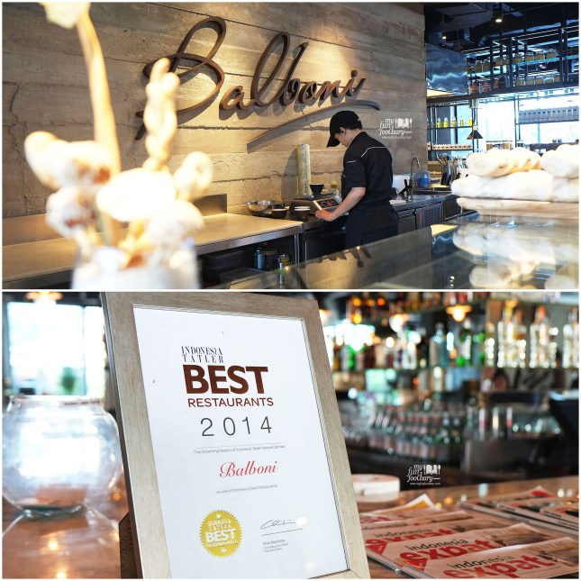 Balboni Ristorante Awarded Best Restaurant by Myfunfoodiary
