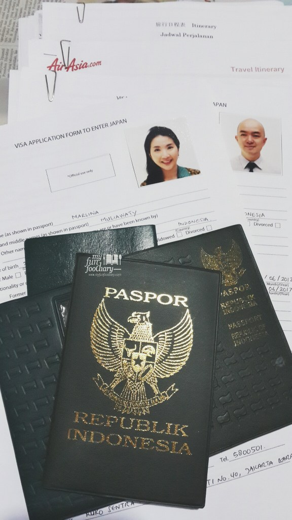 Applications for Japan Visa - by Myfunfoodiary