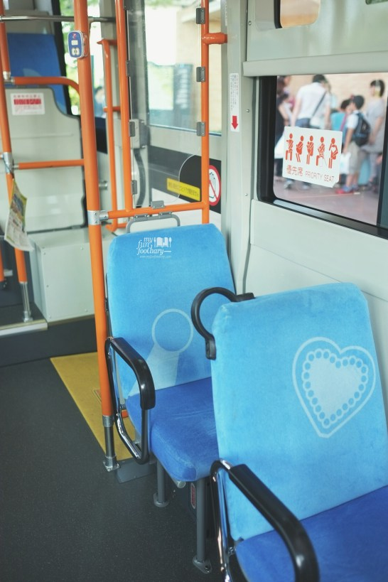Cute Seating inside Doraemon Bus by Myfunfoodiary