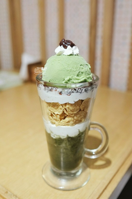 Matcha Parfait at Ten Ten Jakarta by Myfunfoodiary