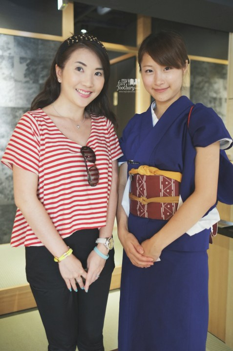 Me and the Lovely Japanese Girl at Hyoki Restaurant by Myfunfoodiary
