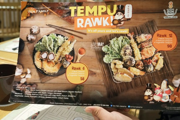 Tempurawk Menu at Ten Ten Jakarta by Myfunfoodiary