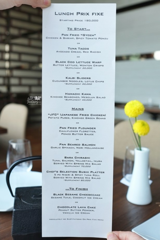 Lunch Set Menu at Akira Back Jakarta by Myfunfoodiary