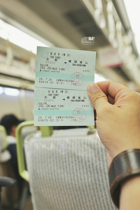 Train Ticket from Kyoto to Arashiyama by Myfunfoodiary