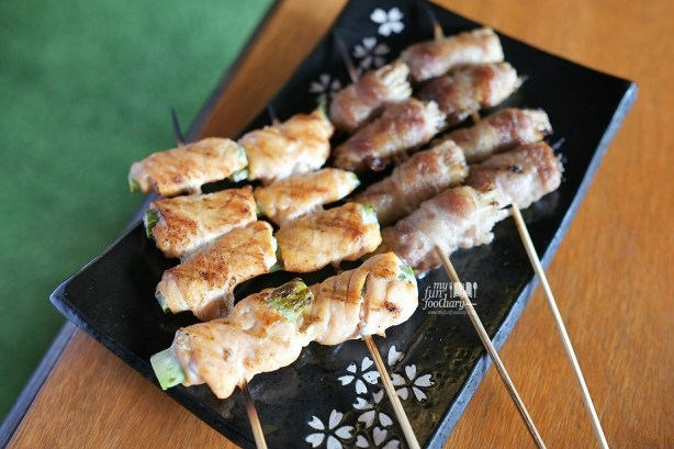 Yakitori Salmon and Beef Enoki at Kei Sushi SCBD by Myfunfoodiary