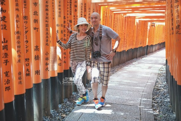Me and My husband at Fushimi Inari Taisha Kyoto by Myfunfoodiary