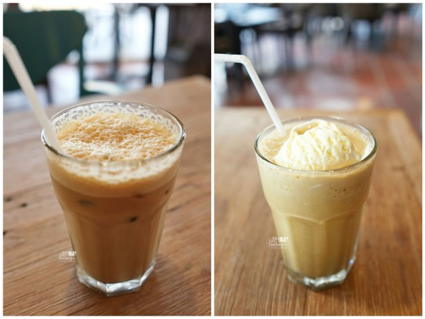Iced Hazelnut Latte and free coffee at Bourbon Cafe by Myfunfoodiary