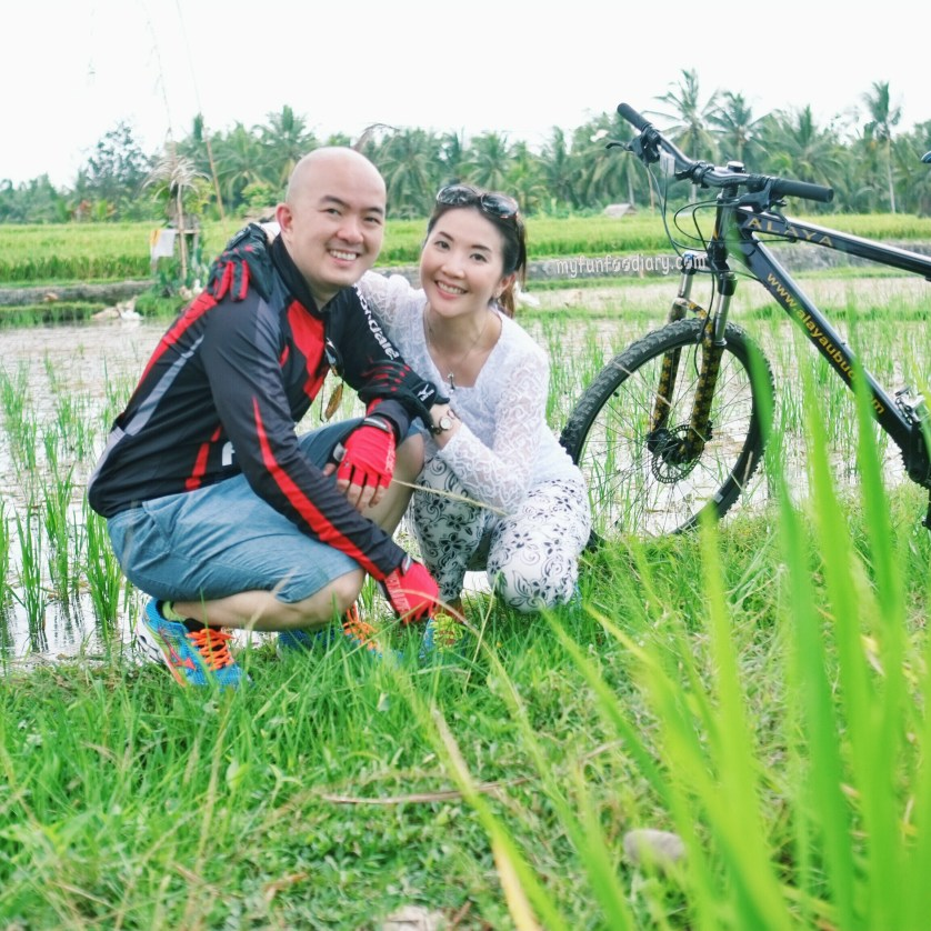 Me and My Husband Cycling Around Ubud