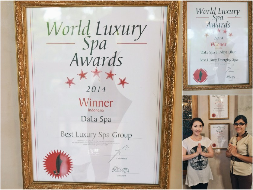 World Luxury Spa 2014 Winner at DaLa Spa Ubud by Myfunfoodiary