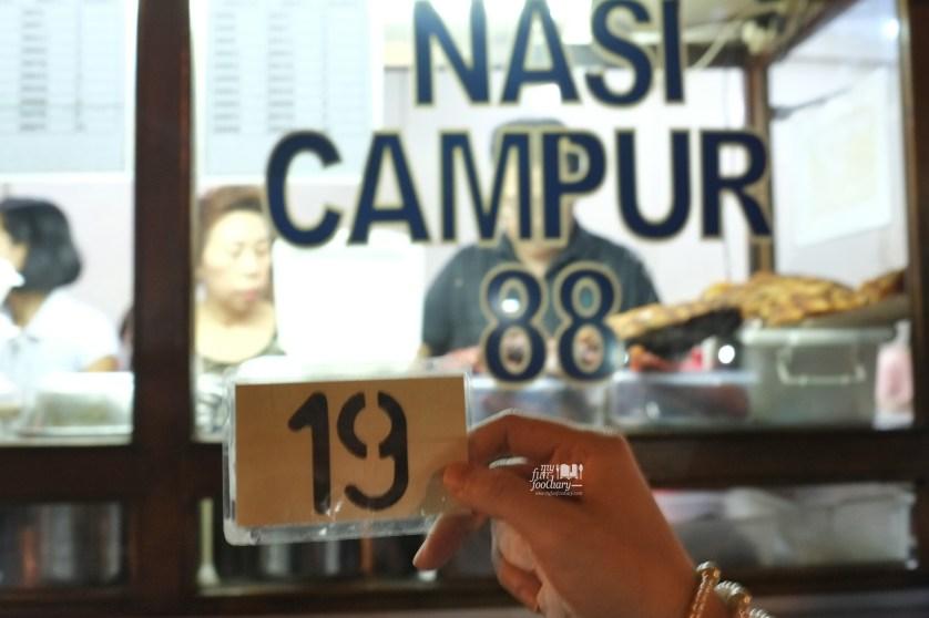Nomor antrian Nasi Campur 88 Asiang Bandung by Myfunfoodiary