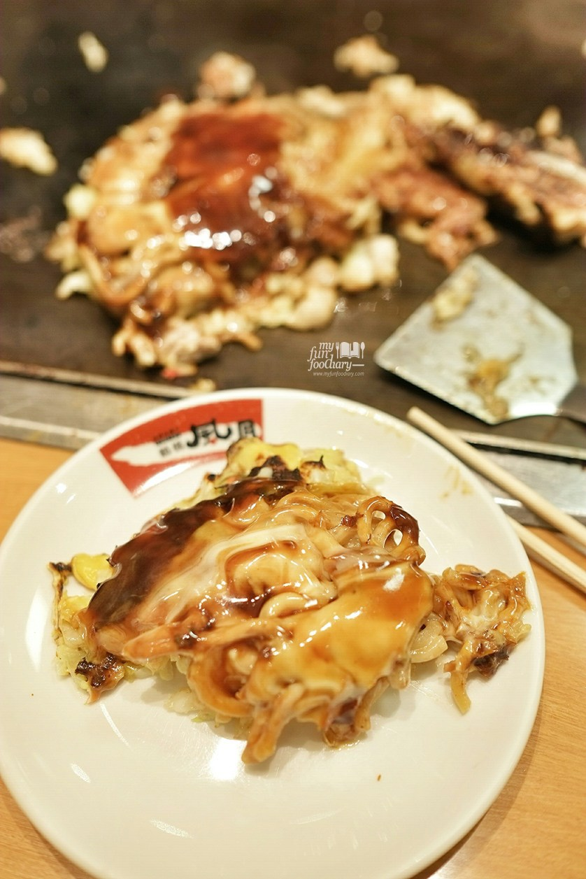 Shrimp and Pork Modan-yaki at Tsuruhashi Fugetsu Osaka Dotonbori by Myfunfoodiary