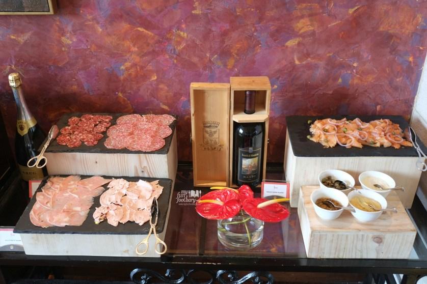 Swedish Smoked Salmon and Salami at Rosso Shangrila Jakarta by Myfunfoodiary