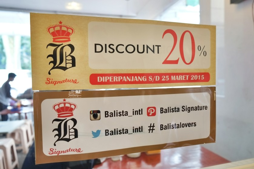 Diskon Balista Cafe by Myfunfoodiary