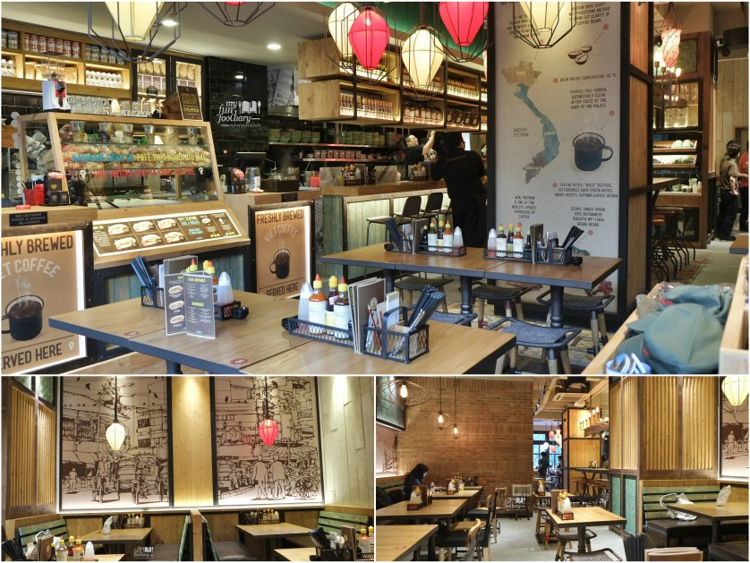 Interior Nam Nam Noodle Bar by Myfunfoodiary collage