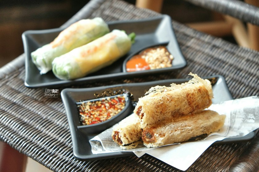 Prawn and Chicken Rolls at Nam Nam Noodle Bar by Myfunfoodiary