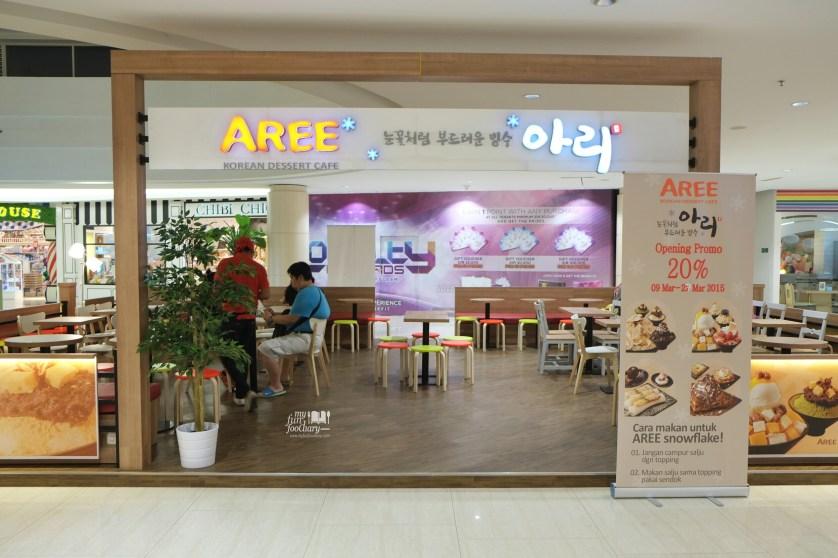 Tampak Depan Korean Aree Dessert Cafe by Myfunfoodiary