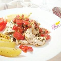 [RECIPE] Chicken with Lemon and Garlic, & Potato Wedges Rosemary