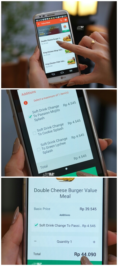 Step 2 ordering at Burger King in foodpanda apps by Myfunfoodiary