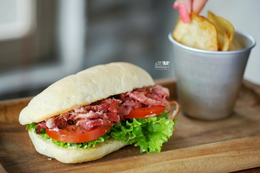 Beef BLT Sandwich at Brown Bag Kemang by Myfunfoodiary