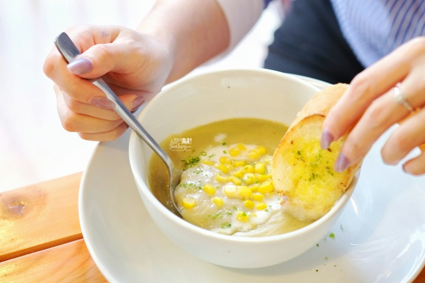 Corn Cream Soup at Cafetaria Study Lounge by Myfunfoodiary