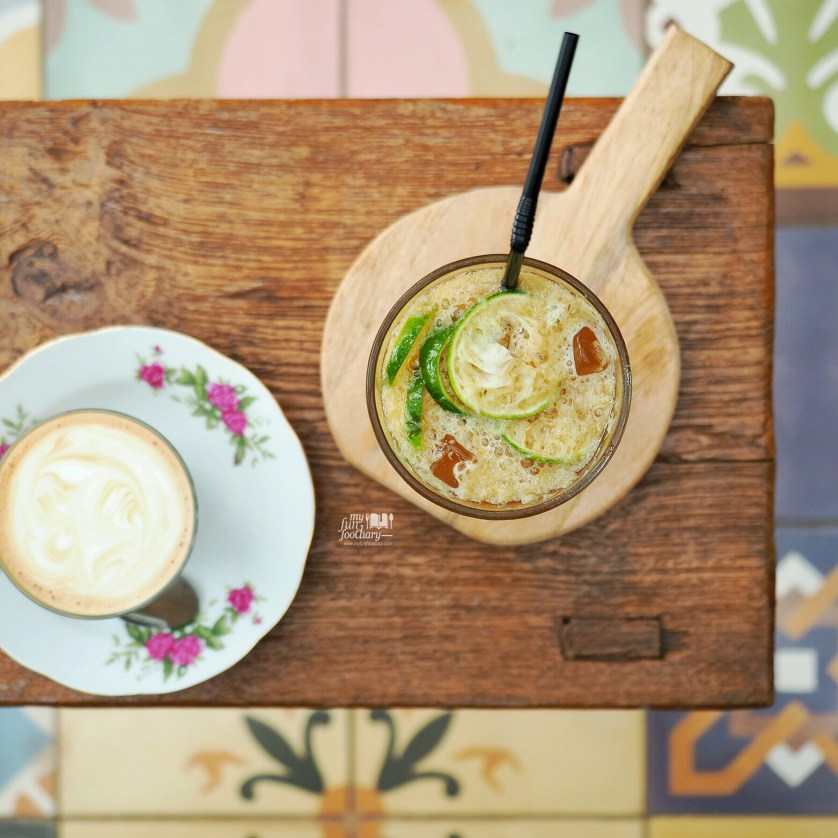 Hot Latte and Lime Ice Tea at Breakfast at Cayenne by Myfunfoodiary