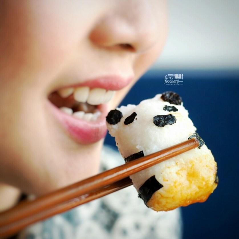 Mullie and Panda-shaped rice by Myfunfoodiary