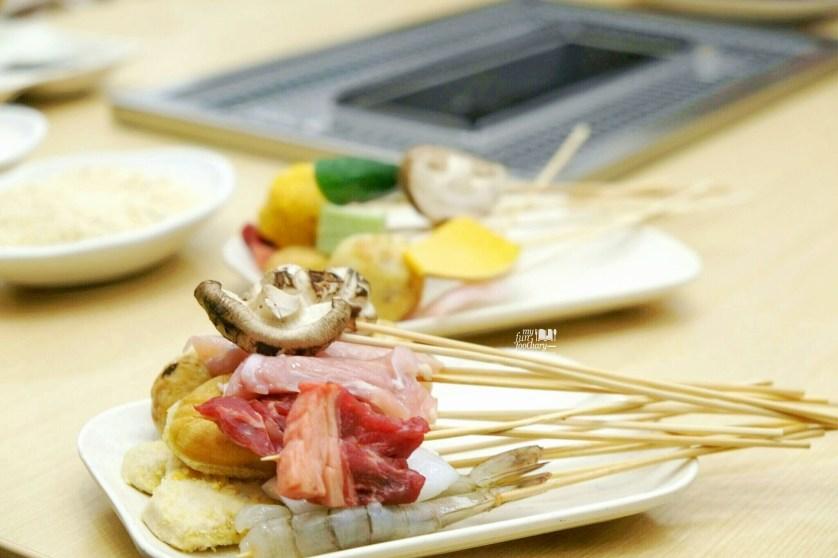 Raw meat at Kushiya Monogatari BSD City by Myfunfoodiary