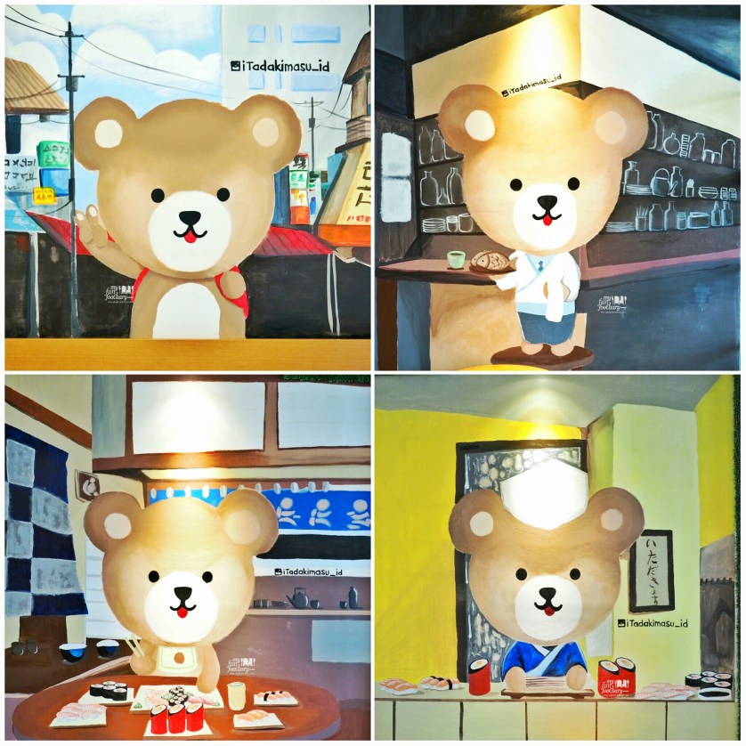 Teddy Bear collage at Itadakimasu by Myfunfoodiary