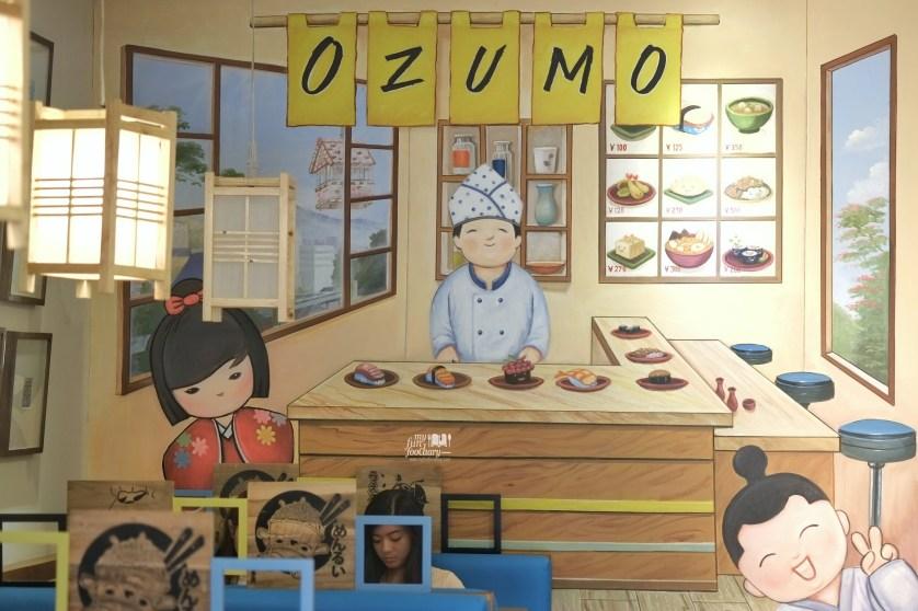 Cute Decor Wall at Ozumo Gading Serpong by Myfunfoodiary