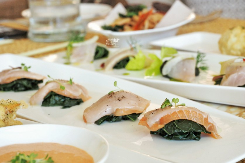 Crudo Salmone at Soleil Restaurant at Mulia Hotel Bali by Myfunfoodiary