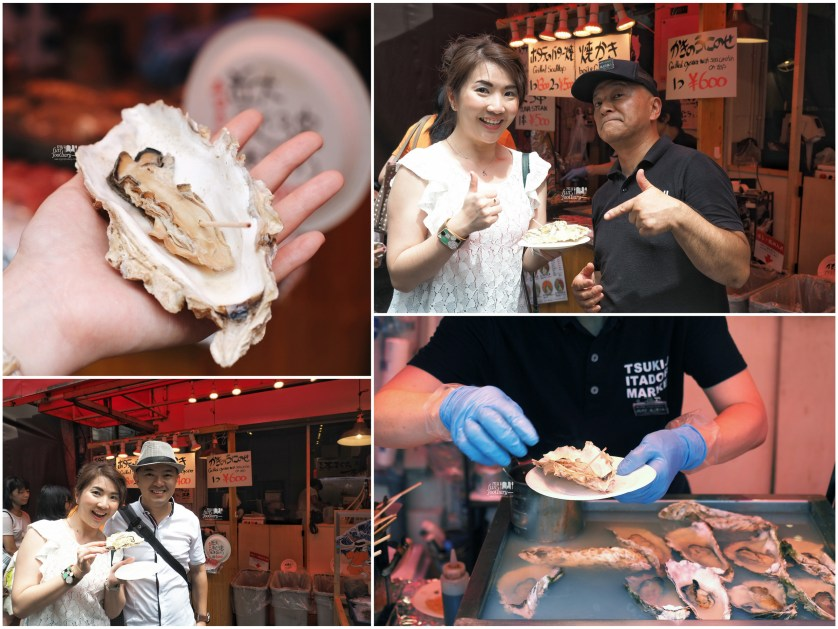Steam Oyster at Tsukiji Market by Myfunfoodiary