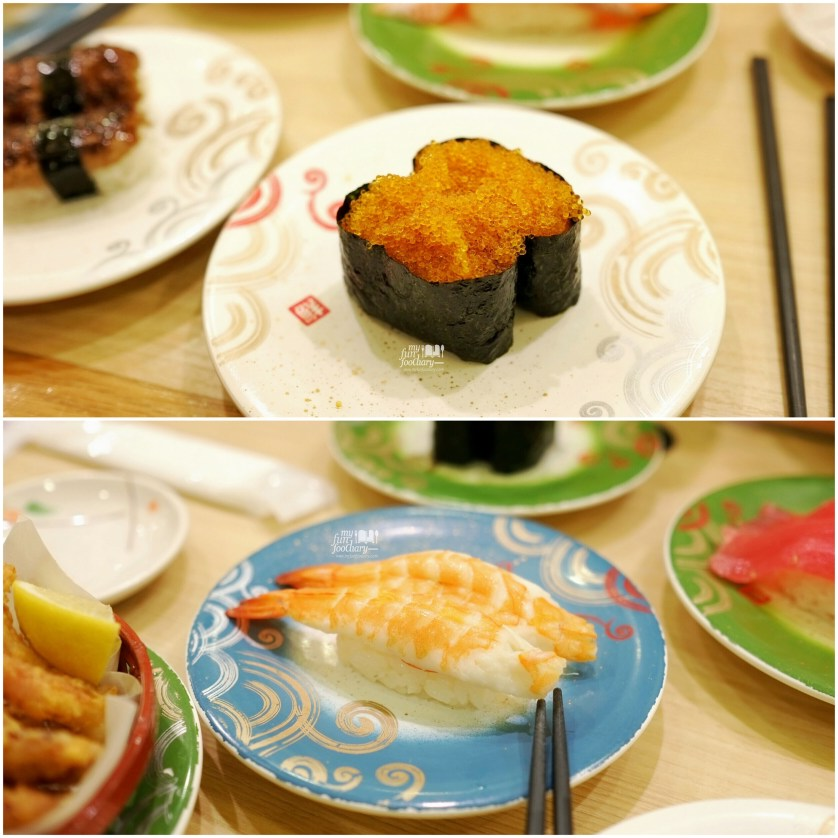 Tobiko Sushi and Shrimp Sushi at Toriton Sushi by Myfunfoodiary