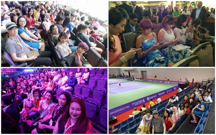 Had Fun with the other bloggers at WTA Finals Singapore