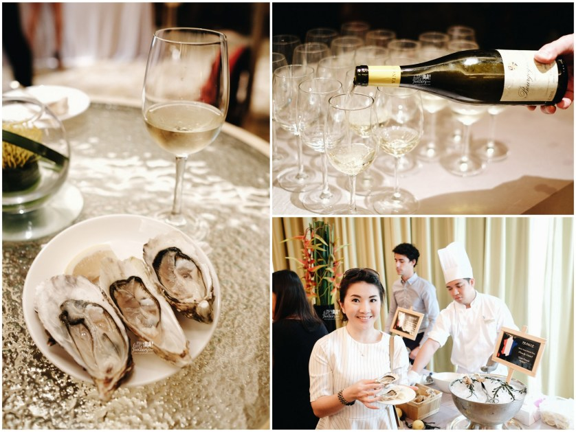 France Oysters pairs with White Wine at Conrad Singapore by Myfunfoodiary