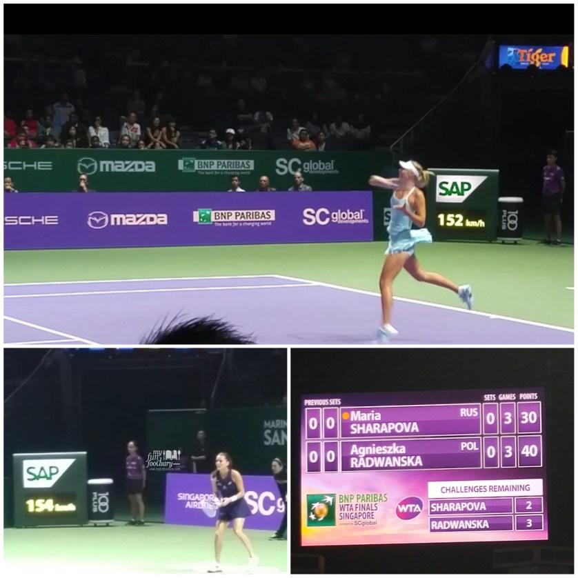 Maria Sharapova vs Agniezska Radwanska by Myfunfoodiary