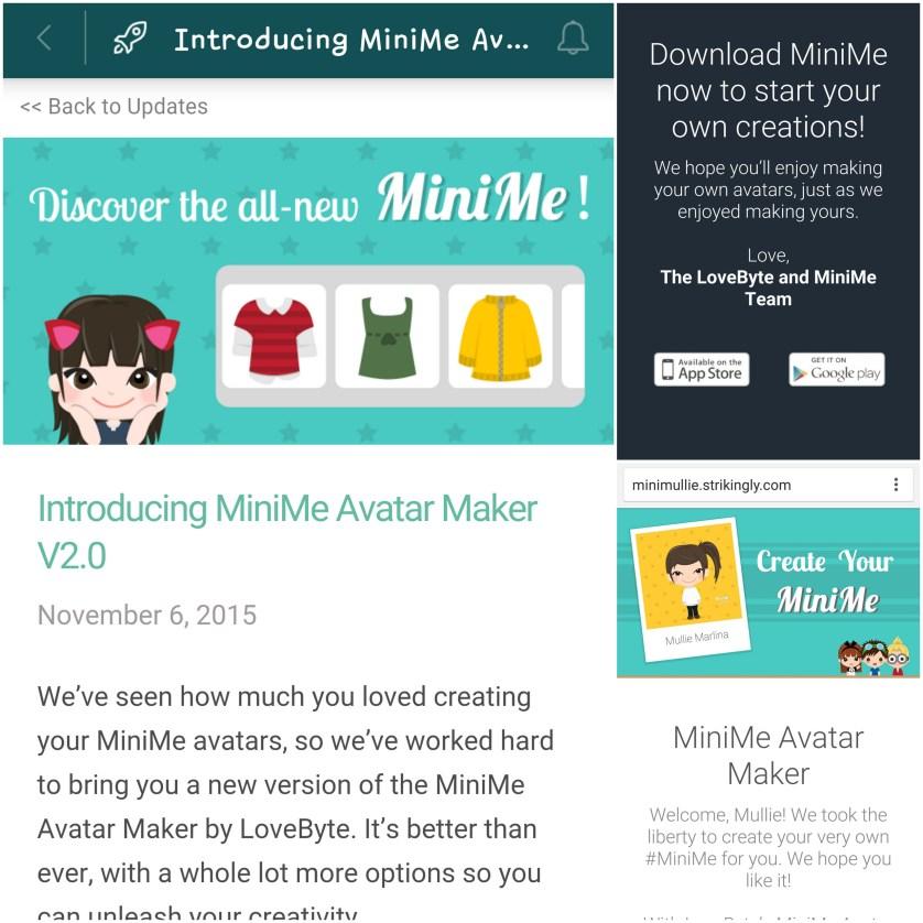 The New Mini Me Avatar - by Myfunfoodiary