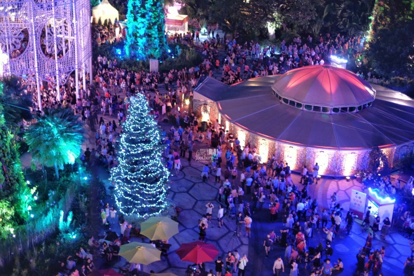 View to Spiegeltent from above the OCBC Skywalk by Myfunfoodiary