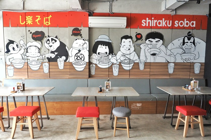 Cute Decoration at Shiraku Soba PIK by Myfunfoodiary